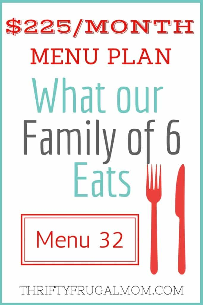 Meal Planning on a Budget- menu ideas