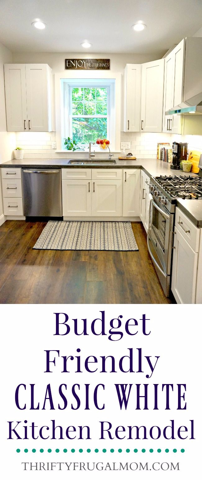 Budget Friendly Classic White Kitchen Remodel All The Details - Kitchen remodel on a budget pictures