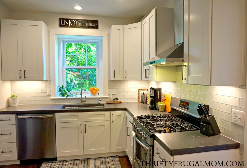 budget friendly classic white kitchen remodel all the details