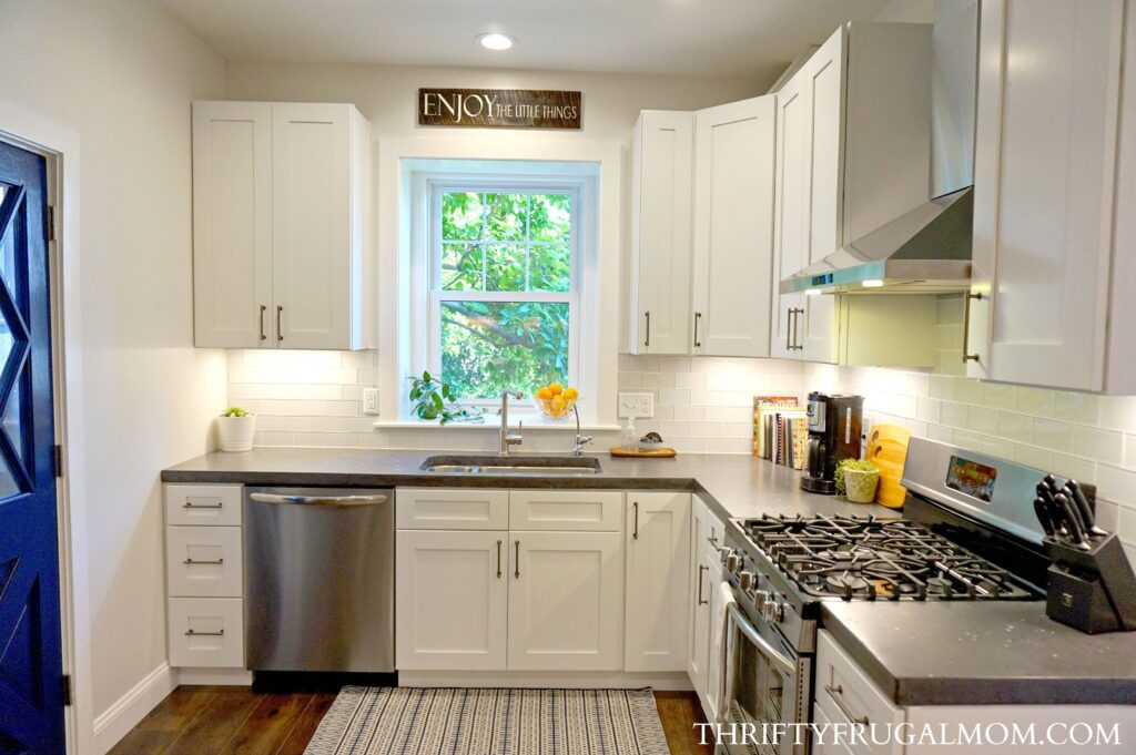 Budget Friendly Classic White Kitchen Remodel- all the details!