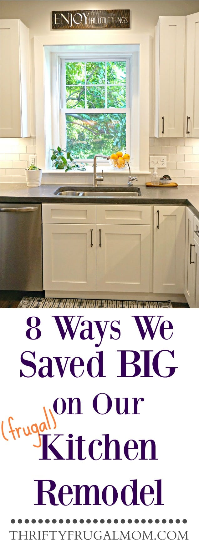 Frugal Kitchen Remodel- ways we saved