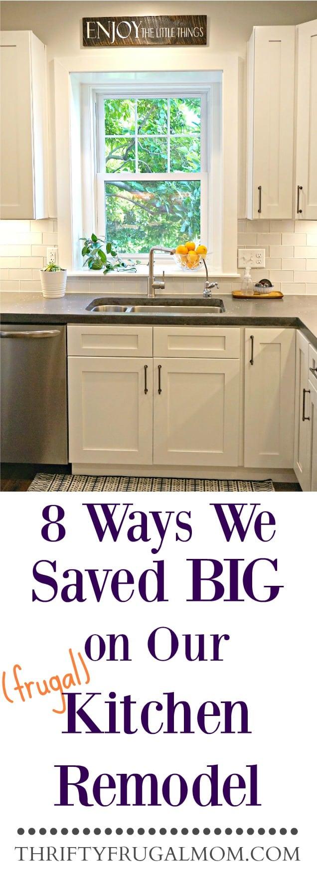 Frugal Kitchen Remodel- ways we saved