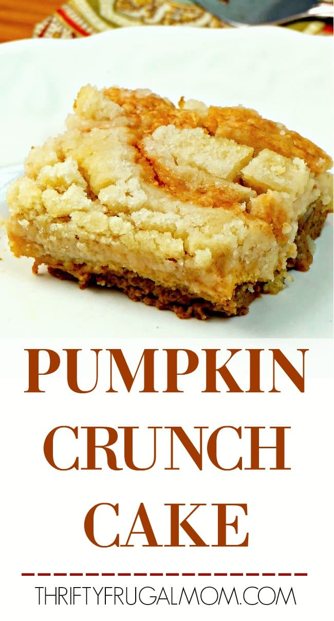 Pumpkin Crunch Cake- made without a cake mix!