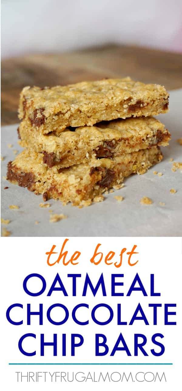 best oatmeal chocolate chip cookie bars