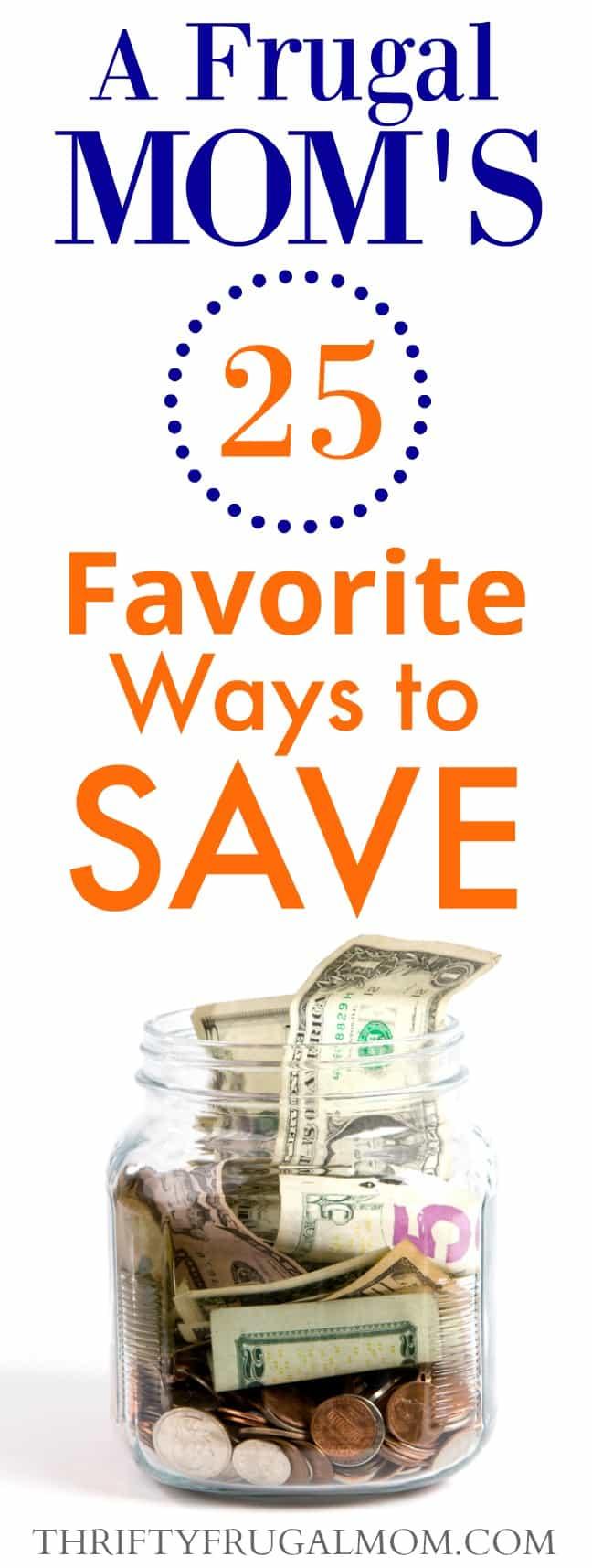frugal mom's frugal ways to save money