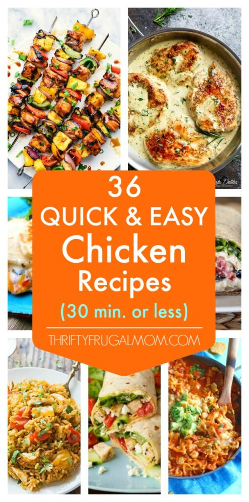 quick and easy chicken recipes