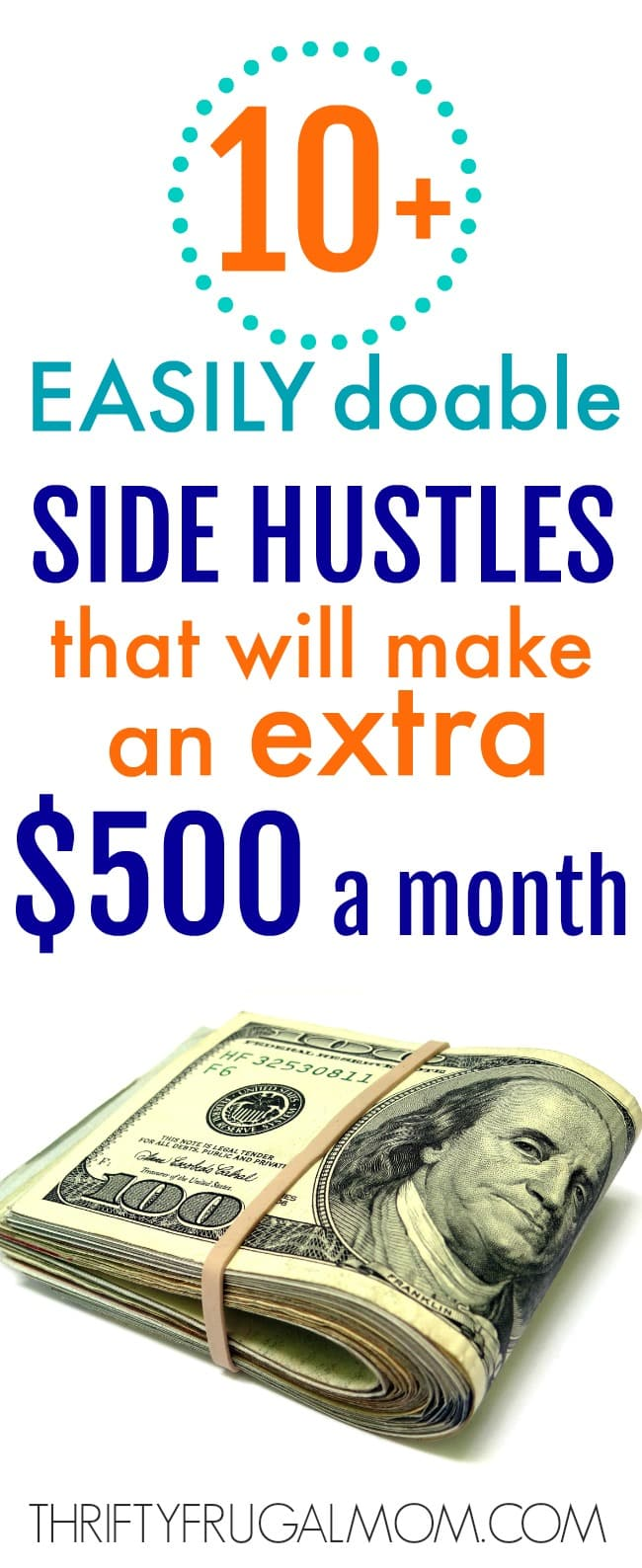Trying to earn extra money? These easily doable side hustle ideas will help you out! By doing just one or two you should be able to earn an extra $500 a month.