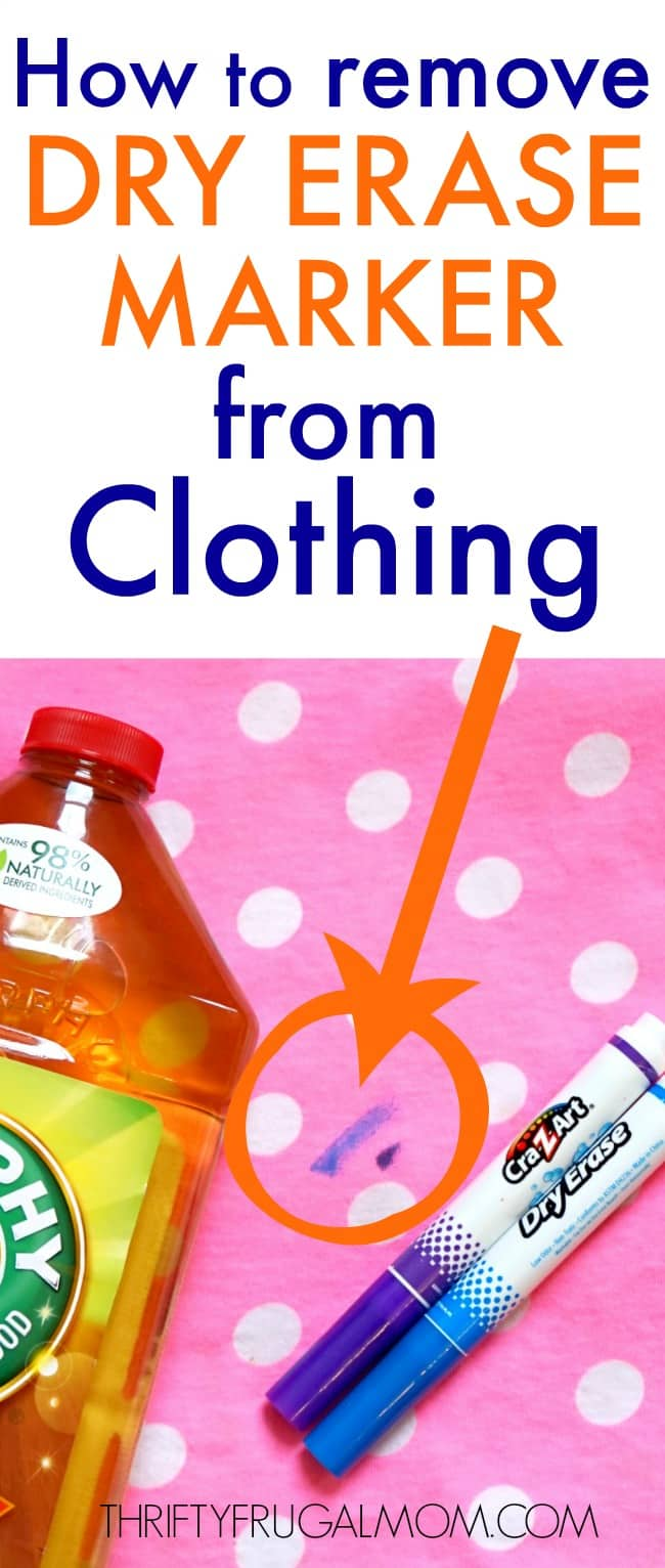 how to get dry erase marker out of clothes