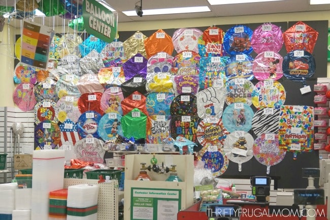 Dollar Tree Party Supplies- balloons