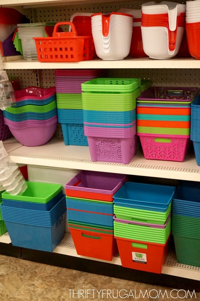 Dollar Tree Organizing Supplies