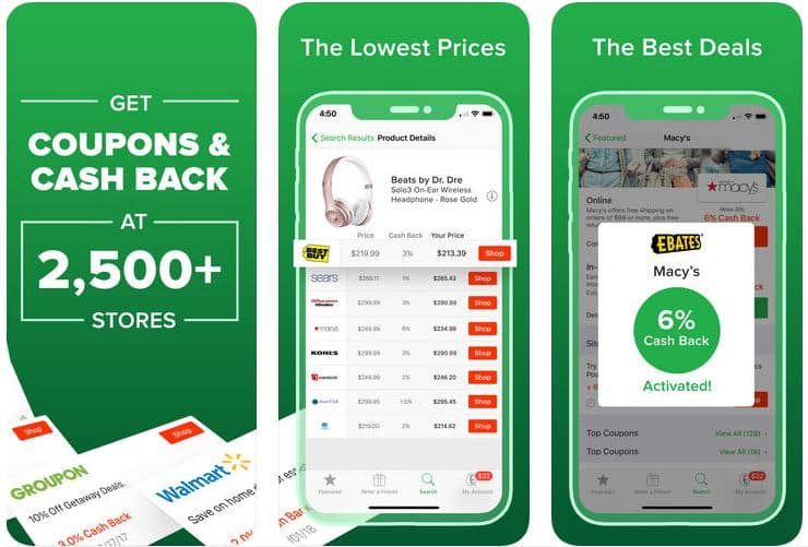 Ebates- a money saving app