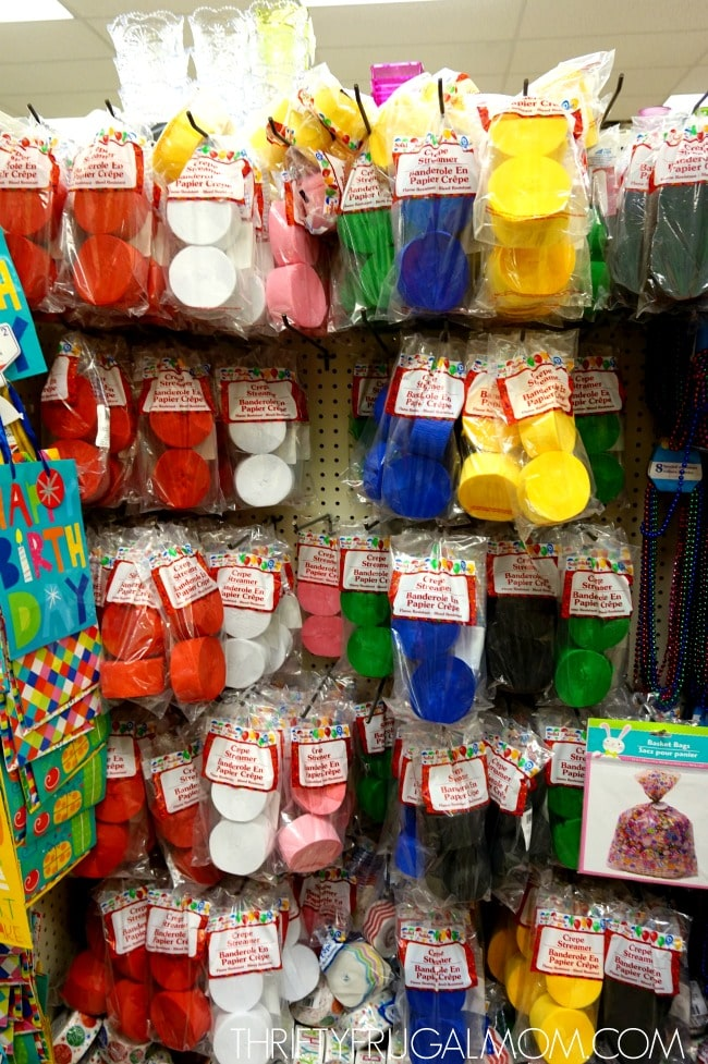 Party Supplies from Dollar Tree