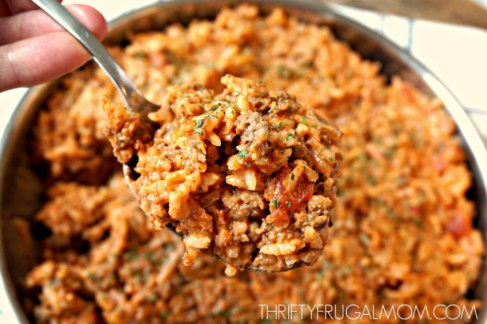 Recipe using ground beef and rice