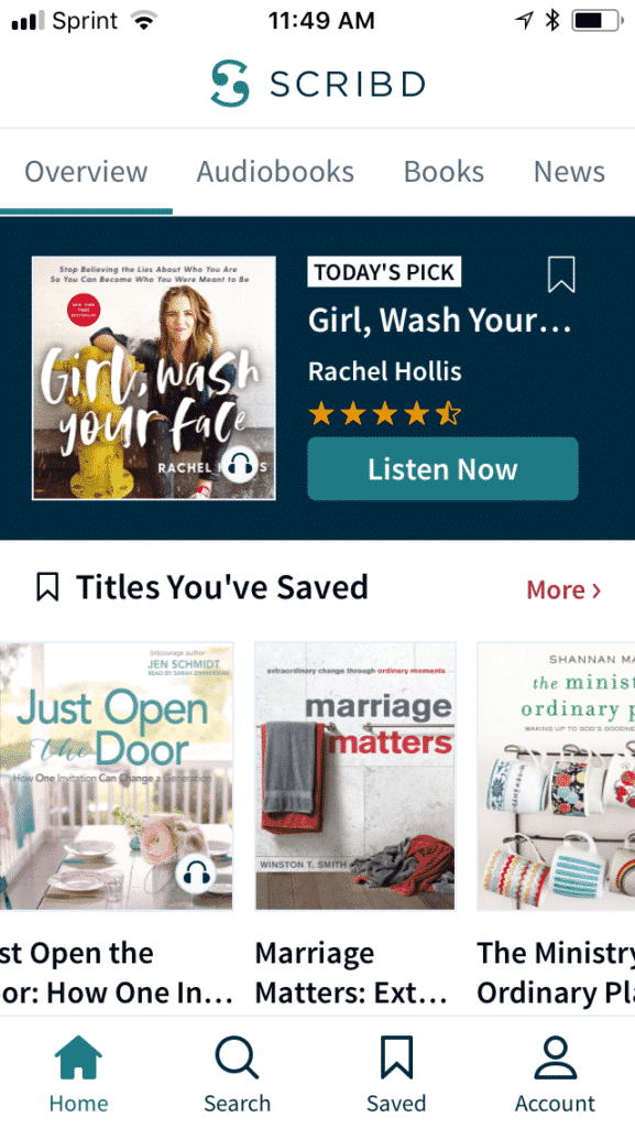 Scribd - Audible alternative