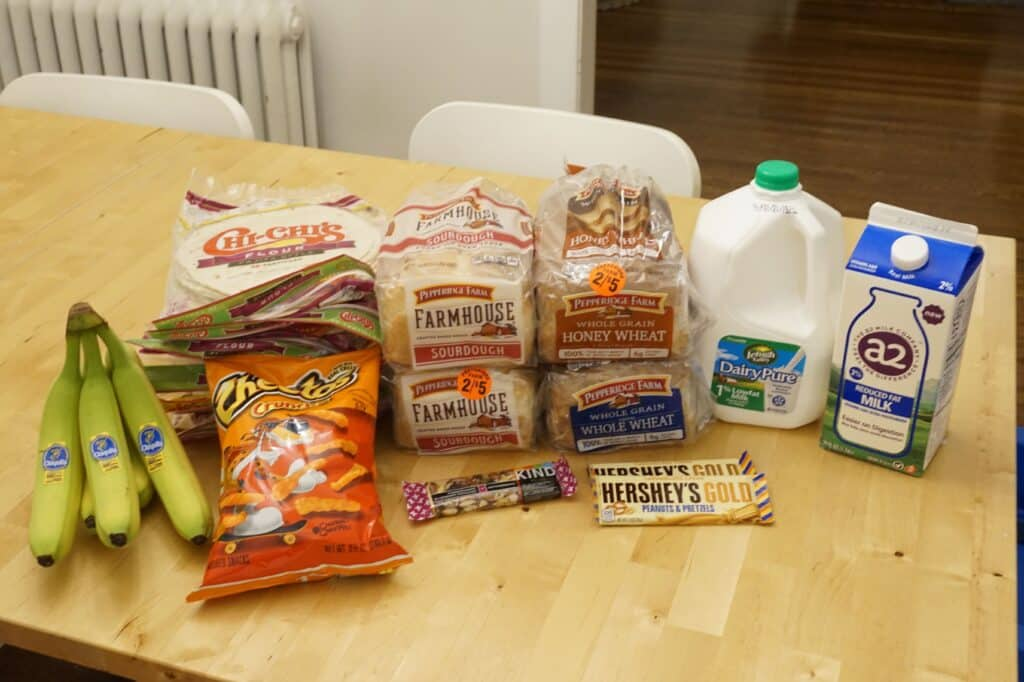 Budget Grocery Shopping Trip