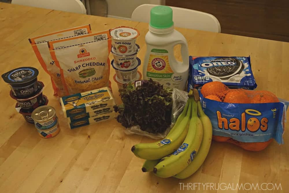 frugal grocery shopping trip with coupons