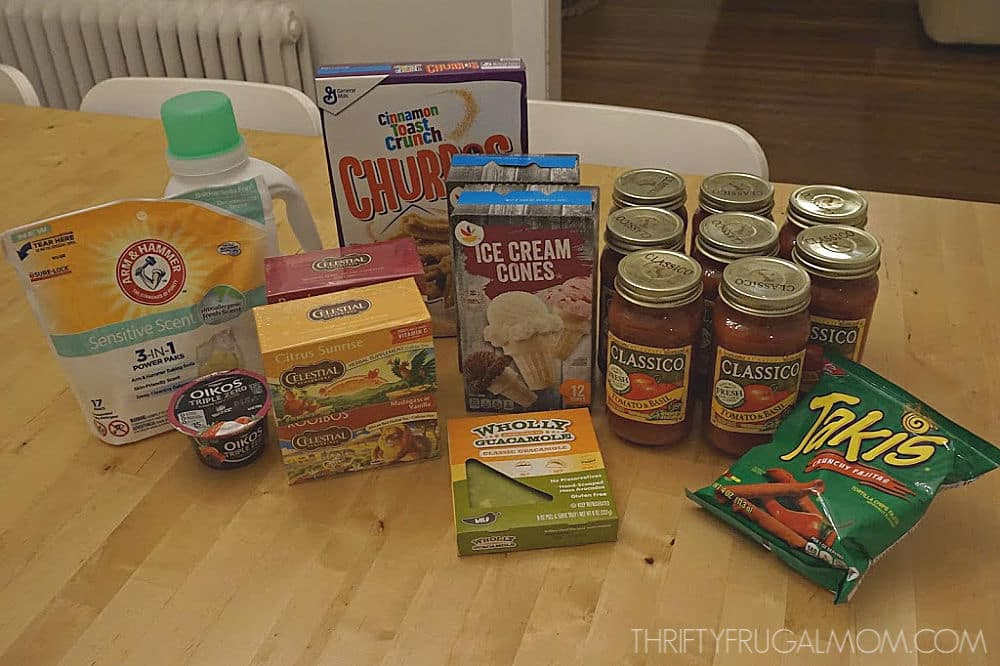 grocery shopping trip with coupons