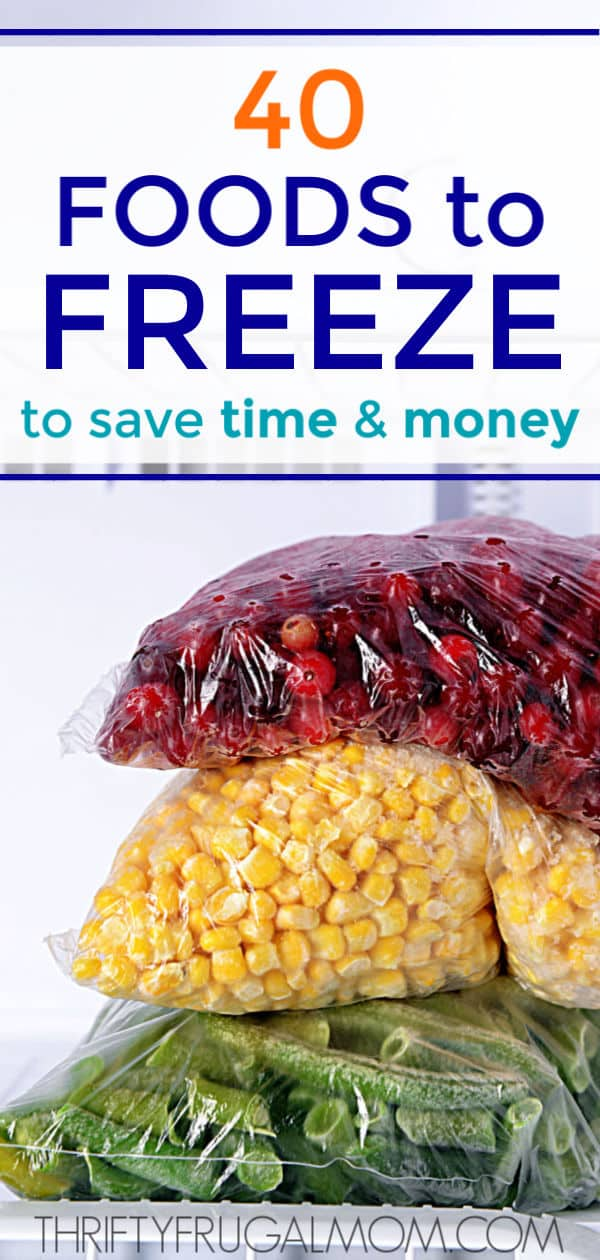 Foods to Freeze to Save Time and Money