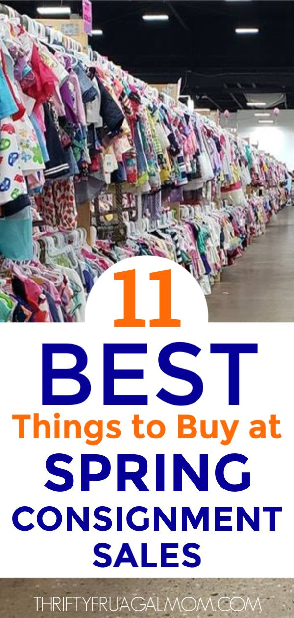 best things to buy at consignment sales
