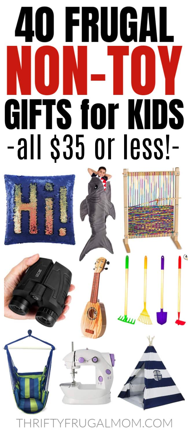 frugal non toy gifts for kids