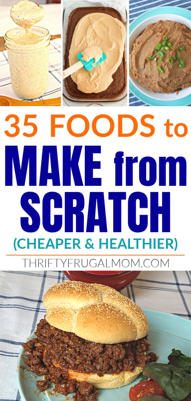 Convenience Foods to Make From Scratch- cheaper and healthier