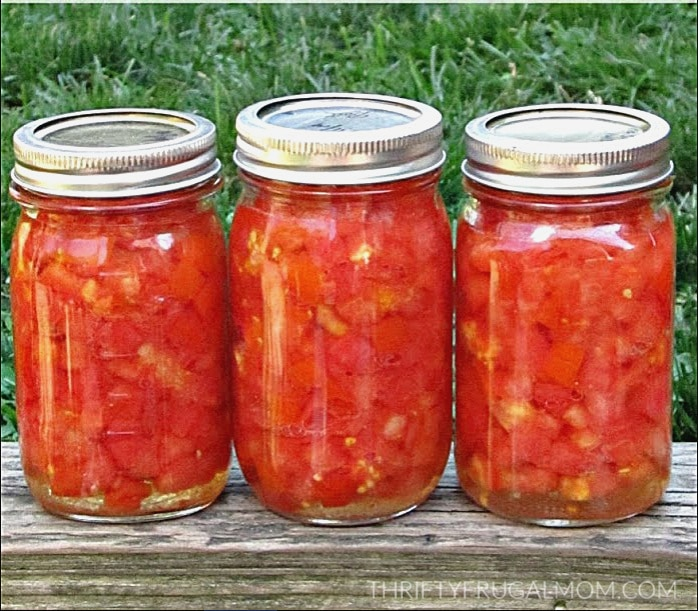 Homemade Diced Tomatoes- how to can