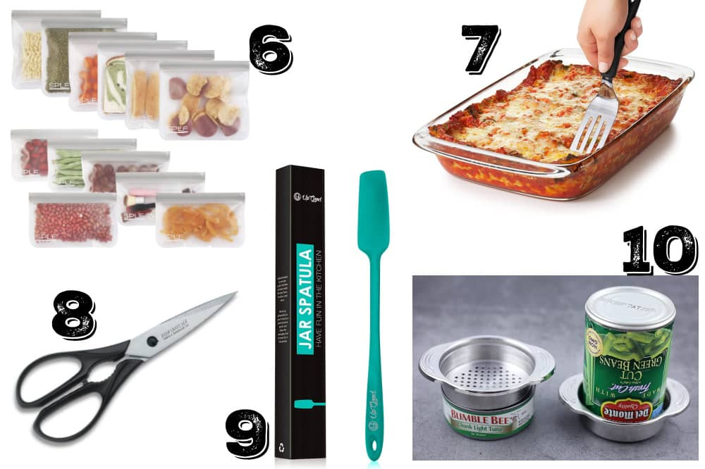 a collage of pictures of some of the best cheap kitchen gift ideas