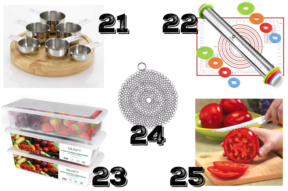 a collage of the best frugal gifts for cooks